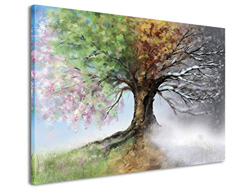 a0fe9ea8e52 MOCO ART-Canvas Wall Art Painting Color Tree Landscape Picture Printings on Canvas  Modern Giclee