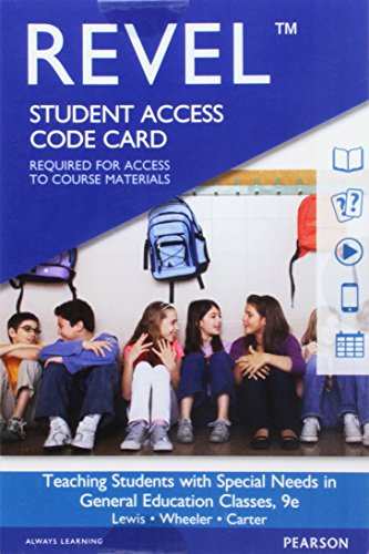 Revel for Teaching Students with Special Needs in General Education Classrooms -- Access Card (9th Edition)