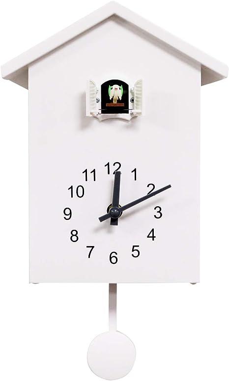 Diseño Simple Reloj De Cuco Reloj De Pared Reloj Soporte Reloj Blanco Kitchen Dining