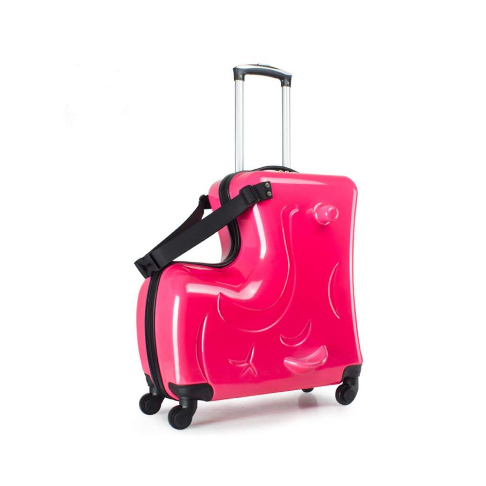 A Pearl Red 20-inch Suitcase Children Luggage kids ride on luggage by wangbaochang2017