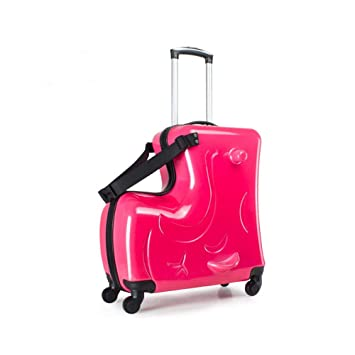 78fb0036465f A Pearl Red 20-inch Suitcase Children Luggage kids ride on luggage