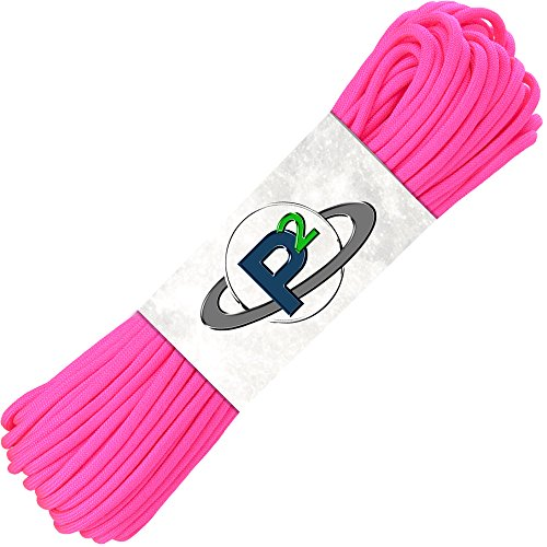 PARACORD PLANET Mil-Spec Commercial Grade 550lb Type III Nylon Paracord (Pink, 50 feet) ()