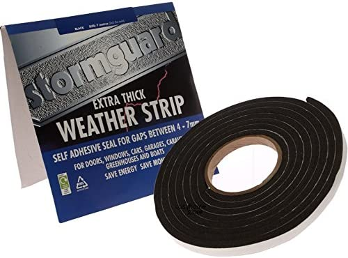 3.5m White Rubber Foam for gaps 4-7mm Extra Thick Draught Excluder Strip