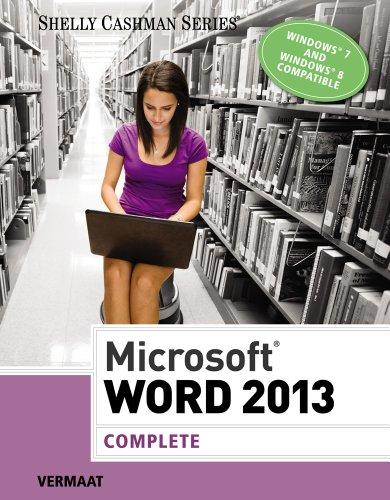 Microsoft Word 2013: Complete (Shelly Cashman Series) Pdf