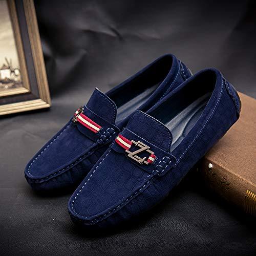 AIMENGA Der Frühling und Herbst Pu-Erbsenschuhe der Beiläufigen Männer Beschuht Die Beiläufigen Schuhe der Männer, Die Schuhe der Mode Schnallen Faule Schuhe Schnallen