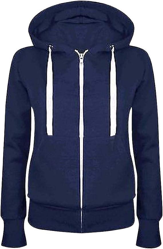 damen sweatshirt jacke blau weiß