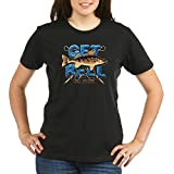 Royal Lion Organic Women's T-Shirt Drk Get Reel Go Fish Fishing Fisherman - Black, XL