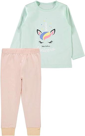 1731cc54a5 NAME IT Mädchen Schlafanzug Einhorn 2-teilig lang Bio-Baumwolle, Größe:86
