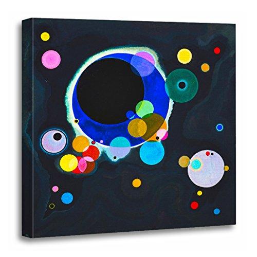 TORASS Canvas Wall Art Print Painting Kandinsky Several Circles Abstract Fine Artwork for Home Decor 20