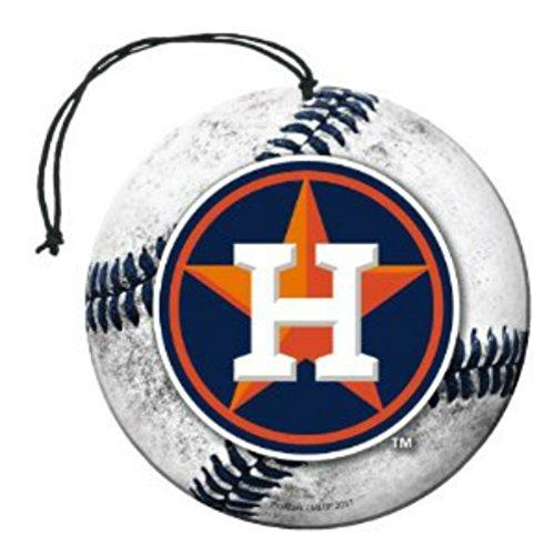[해외]면허 MLB Houston Astros Nu-Car 향기 야구 모양 W 로고 공기 청정제 3 팩 세트 팀 로고 w 선물 상자/Licensed MLB Houston Astros Nu-Car Scent Baseball S