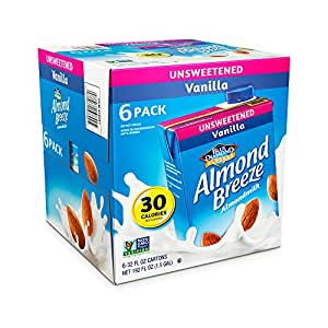 Blue Diamond Almond Breeze Unsweetened Vanilla, 32-ounce (Pack of 6)