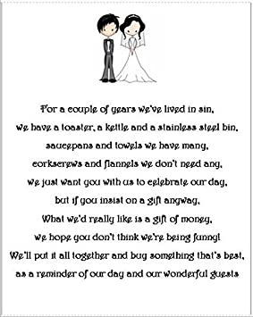 Money Poems For Wedding Invitations Ideas