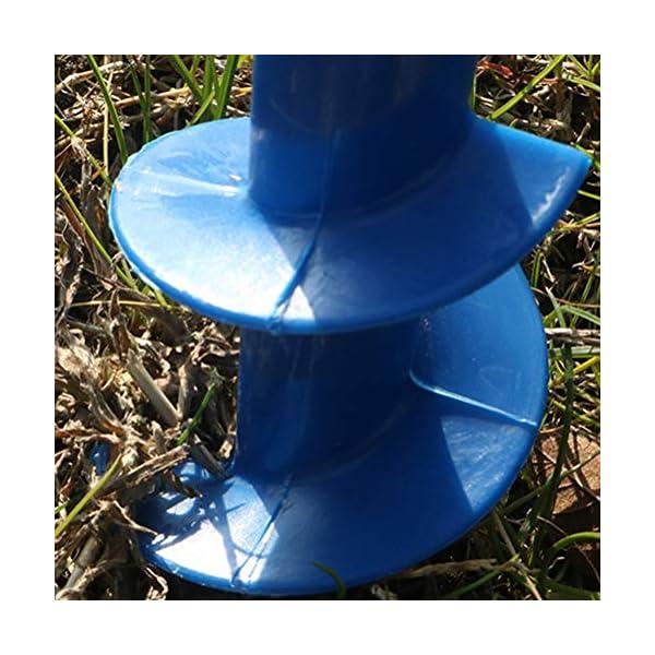 Yardwe 2Pezzi Picchetto di Supporto per ombrellone Mare Spiaggia in plastica Porta ombrellone da Spiaggia,Blu (16.5 x 7… 5 spesavip