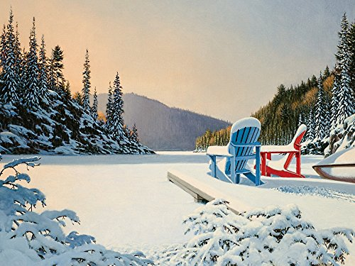 Cobble Hill Adirondack Winter 500 Piece Jigsaw Puzzle