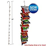 Box of 10 New Almond 12 Station Metal Display Strips 31''H x 0.25'' Dia
