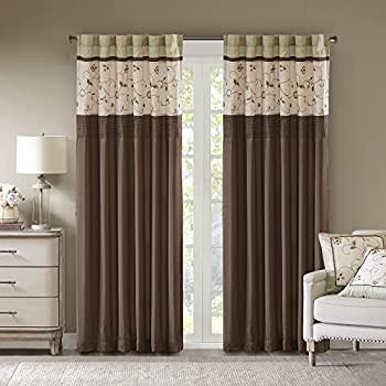 Amazon Com Madison Park Serene Blackout Embroidered Room