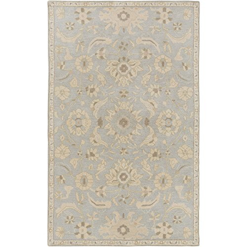 Surya CAE1162-23 Caesar Light Gray Area Rug, 2' x 3', Light Gray/Beige/Olive/Camel/Khaki