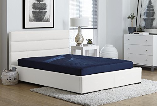 DHP 6-inch Quilted Mattress, Perfect for Bunk Beds, Daybeds, Roll-Out Beds and Full Beds, Full Size - Navy by DHP