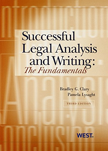 Successful Legal Analysis and Writing: The Fundamentals, 3d (Coursebook) by West Academic Publishing
