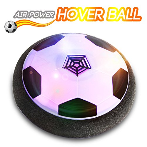 ver Ball Air Power Floating Soccer LED Training Football Foam Bumpers Outdoor & Indoor Games, Boys & Girls Gift ()