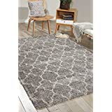 "Nourison AMOR2 Amore Rectangle Area Rug, Ash, 5' 3"" x 7' 5"""