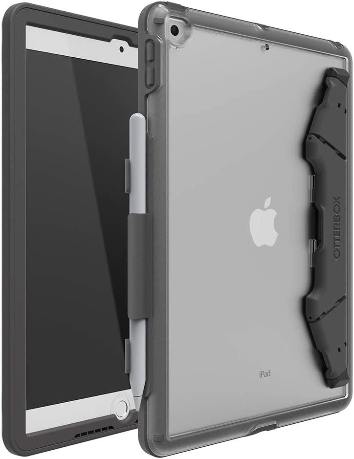 """OtterBox UNLIMITED SERIES Case for iPad 8th & 7th Gen (10.2"""" Display - 2020 & 2019 version) - Bulk Single-pack (1 unit) - CLEAR/SLATE"""