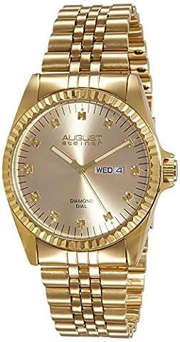 August Steiner Men's AS8047YG Diamond Stainless Steel Bracelet Watch