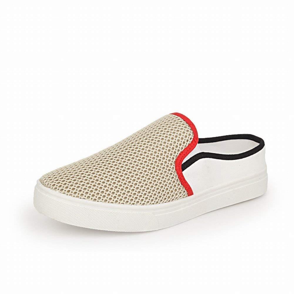 Mode Mesh Hälfte Schleppende Faule Schuhe Bequeme Atmungsaktive Herrenschuhe Leichte Allgleiches Coole Hausschuhe (Farbe   Polieren, Größe   44)