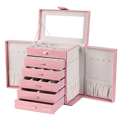 ROWLING Schmuckkasten Schmuckkoffer Schatulle Kosmetikkoffer ZG231 Pink Rosa