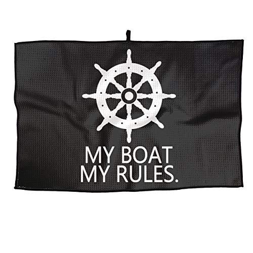 BHSBC.L My Boat My Rules Comfortable Golf Towel Quick Dry Microfiber Towel Sports Towel 15