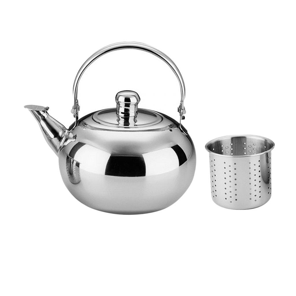 D DOLITY 1,6L Teiera Infusione in Acciaio Inox T/è Tisaniera Teapot Caffettiera con Filtro