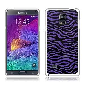 Fincibo (TM) Samsung Galaxy Note 4 N910 TPU Silicone Protector Case Cover Soft Gel Skin - Purple Zebra