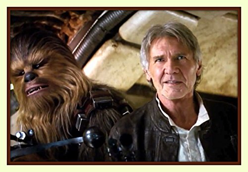 Superb Star Wars 7 The Force Awakens Han Solo And Chewbacca 11X14 Double Matted 8X12 Premium Art Photo Print With Ready To Be Framed Harrison Ford Not Just A Poster
