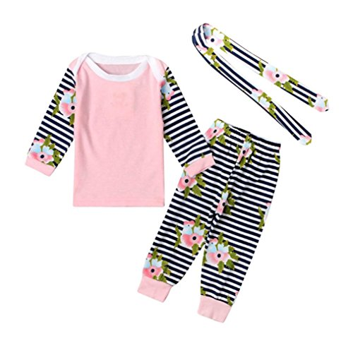[CocoMarket Long Sleeve Tops +Stripe Pants Outfits Set (70)] (Funny Make Your Own Costume Ideas)