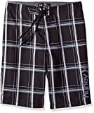 Hurley Big Boys' Board Shorts, Black Plaid, 10