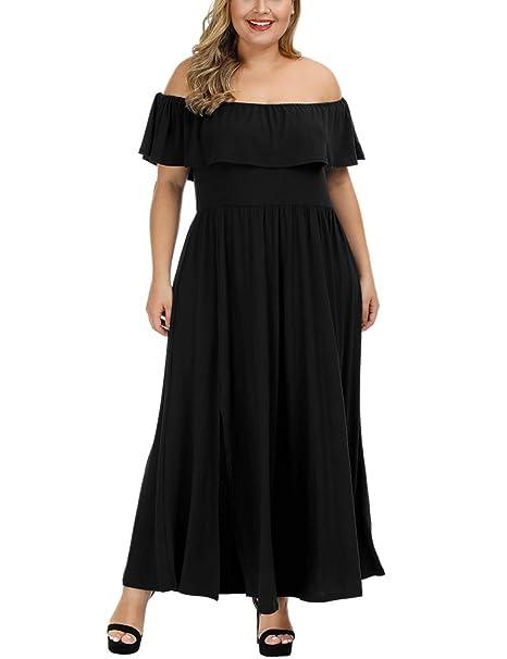 Amazon.com: Allegrace vestido maxi sexy para mujer, talla ...