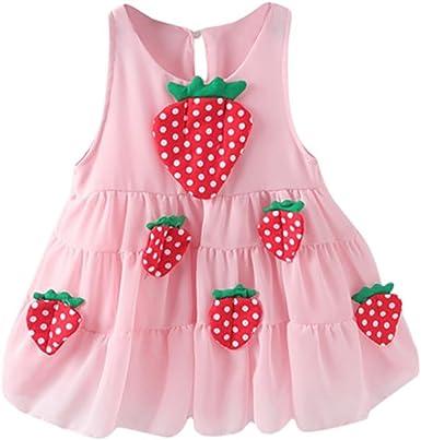 Amazon.com: jpoqw bebé niña fresa Kid niñas vestido de ...