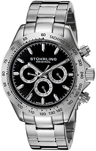 Stuhrling Original Herren-Armbanduhr Octane Raceway Analog Quarz Edelstahl 564.02