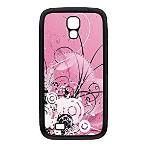 Bath of Pink Black Silicon Rubber Case for Galaxy S4 by Fernando Garza + FREE Crystal Clear Screen Protector