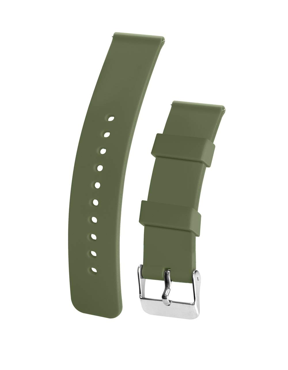 Silicone Watchband Strap Quick Release Soft Rubber Surface with Textured Non-Slip Back Waterproof & Washable Color & Size Variety