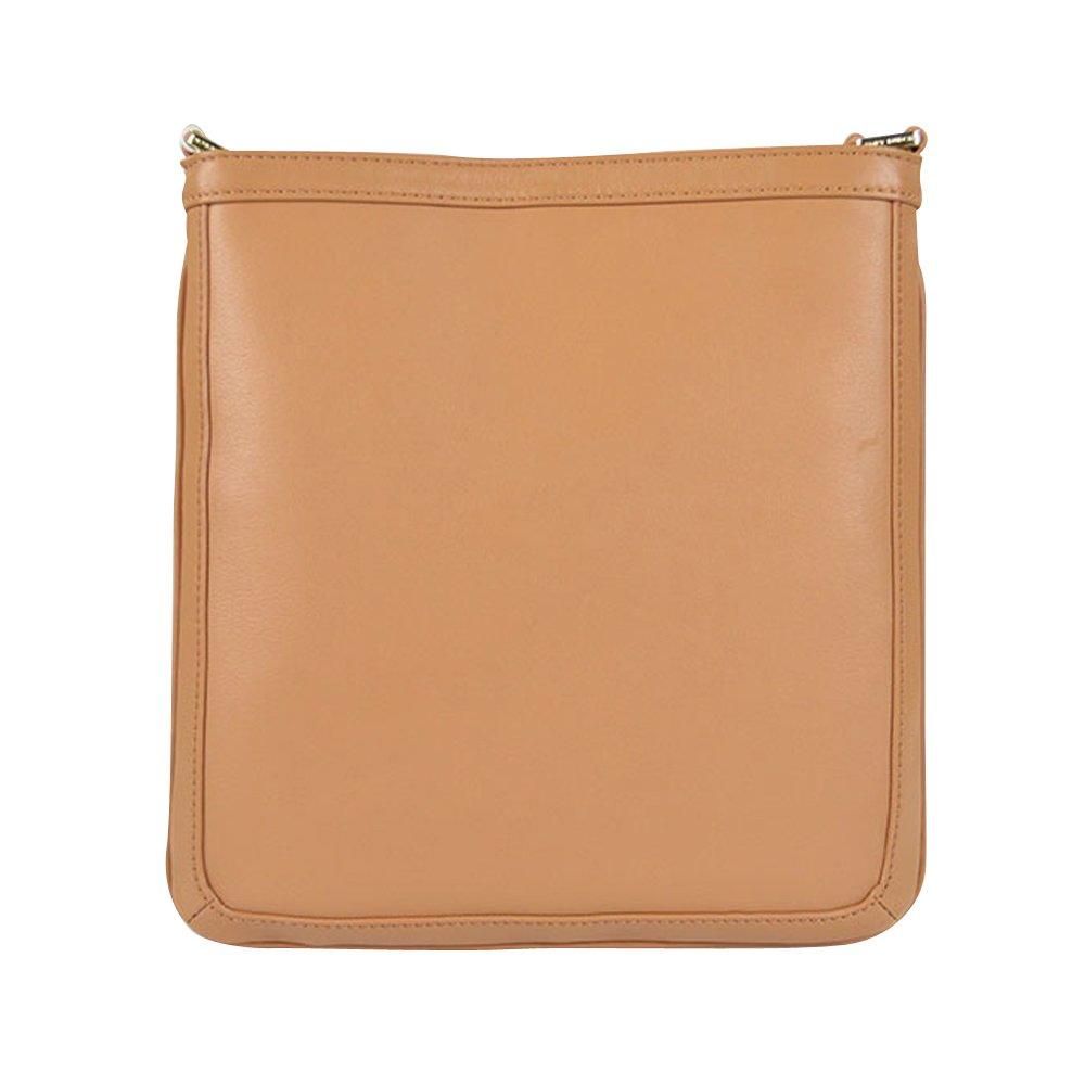 562e69ee132 Tory Burch Holly Leather Crossbody Bookbag Vintage Vachetta  Handbags   Amazon.com