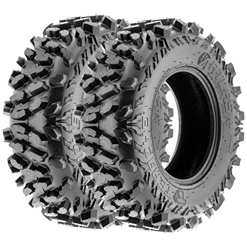 TERACHE Atlas ATV UTV A/T Tires 25x8-12 25x8x12 Tubeless Race Premium 6 Ply, [Set of 2]