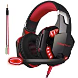 Gaming Headset Xbox One PC PS4 Headphones Headsets with Mic Microphone for PS4 Xbox Playstation PC Nintendo Switch Games Over Ear Computer Mac Gamer Phone Stereo 3.5mm Noise Cancelling (Free Adapter)