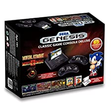 Sega Genesis Deluxe Classic Game Console Exclusive 85 Built in Games by At Games