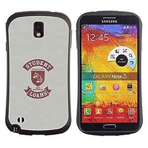 """Pulsar iFace Series Tpu silicona Carcasa Funda Case para Samsung Note 3 , Vida Estudiantil Cita divertida Escalas Préstamo de Dinero"""""""