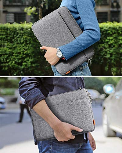Inateck Laptop Sleeve Case Compatible with 12.3-13 Inch Laptops 13 Inch New MacBook Pro 2016-2020 Retina/MacBook Air 2019-2020/12.3 Inch Surface Pro X/7/6/5/4, 12.9 iPad Pro - Gray
