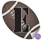 "Wall Letter ""E"" Football Alphabet Letters Initial Sticker Vinyl Stickers Kids Decals Children Room Decor Baby Nursery Boys Bedroom Decorations Child Names Personalized Decal Graphic Sports Balls Girls"