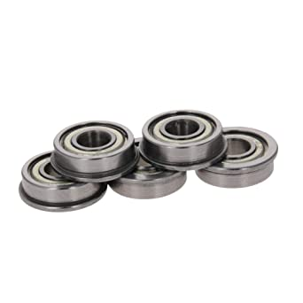 Othmro FR4ZZ Flange Bearing for 3D Printer Stainless Steel Micro Ball Bearings with Less Coefficient of Friction Less Vibration and Noise 5pcs