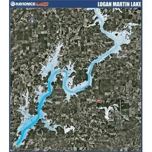 Alabama Paper Chart (Navionics Paper Map - Logan Martin Lake Alabama)