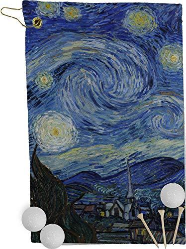 (RNK Shops The Starry Night (Van Gogh 1889) Golf Towel - Full Print)